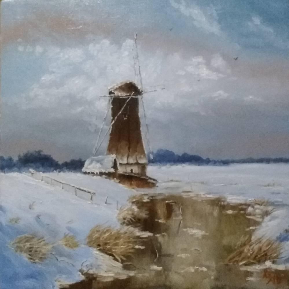 Сергей Николаевич Ходоренко-Затонский. Winter. Mill