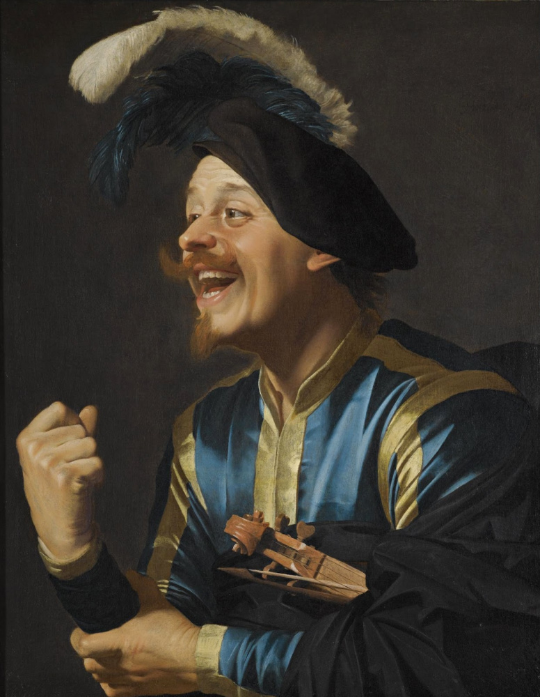 Gerard van Honthorst. The laughing violinist