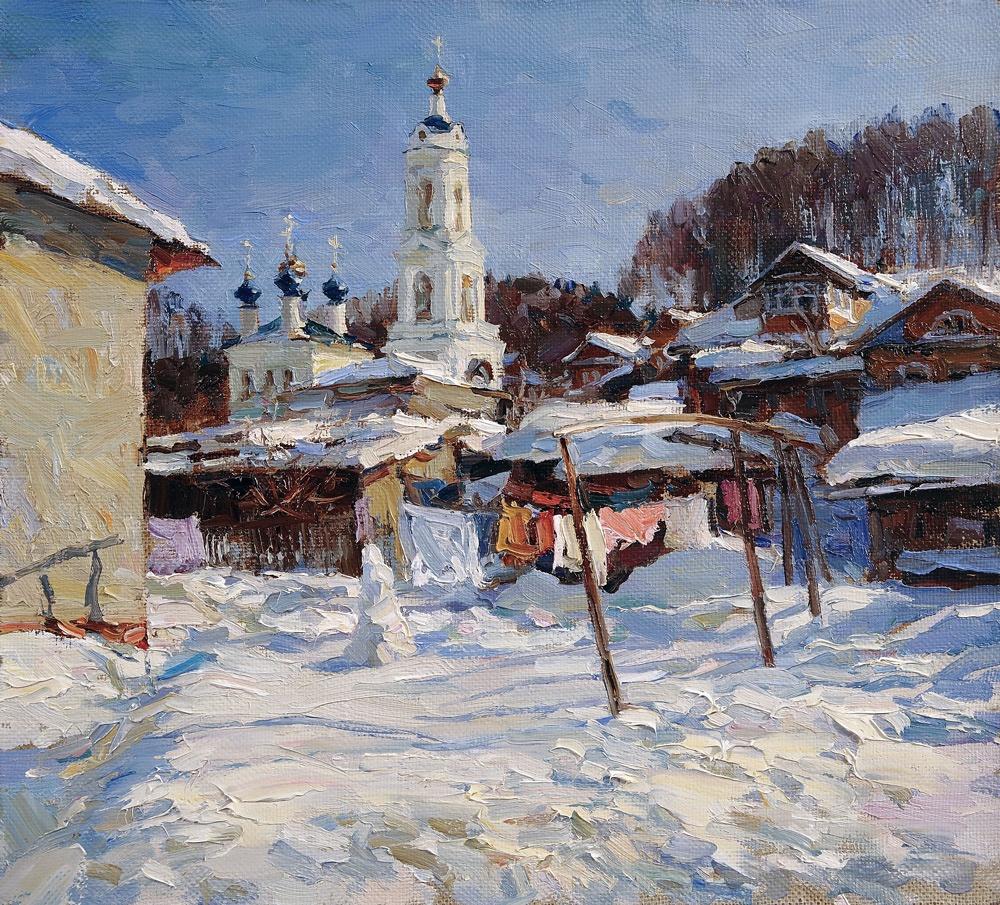 Alexander Shevelyov. Spring Ples.Oil on canvas 34,5 # of 37.7 cm 2012