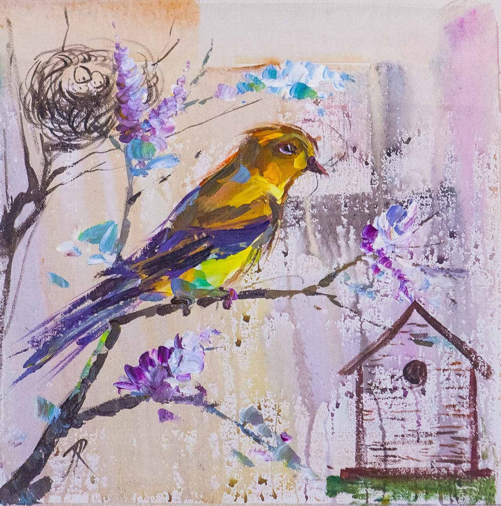 Jose Rodriguez. Yellow wagtail. In the native land. Traveler's Sketches Series