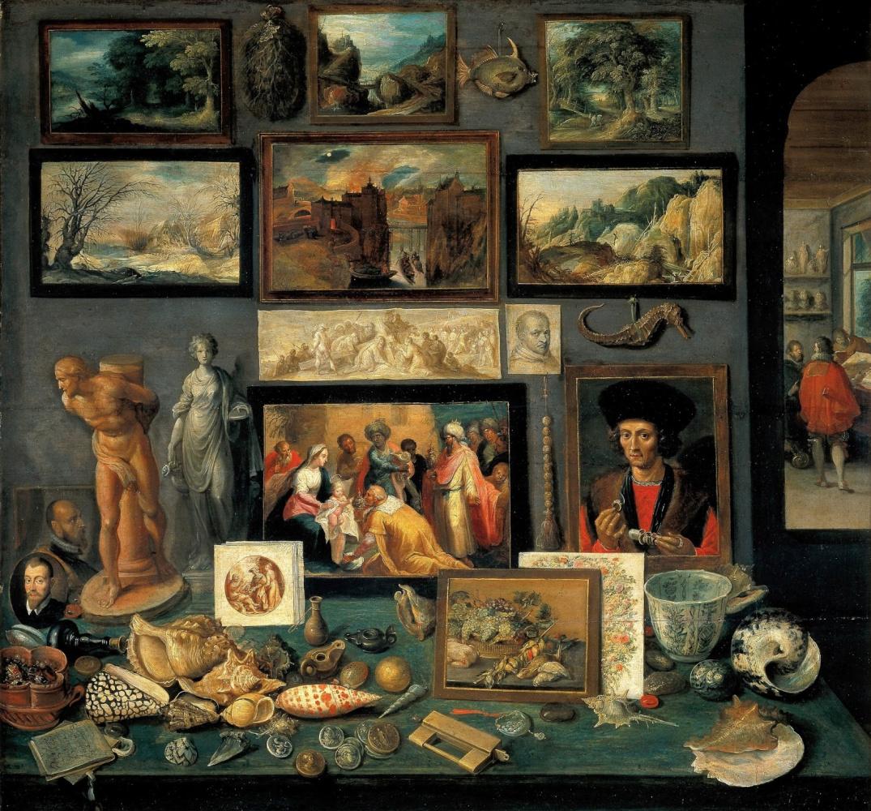 Франс Франкен Младший. В доме антиквара.  1636