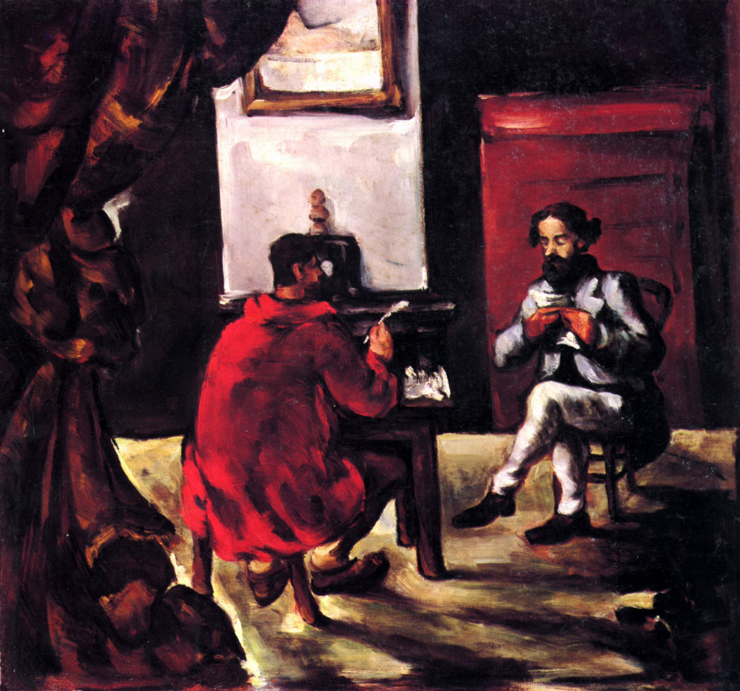 Paul Cezanne. Paul Alexis reading to Zola