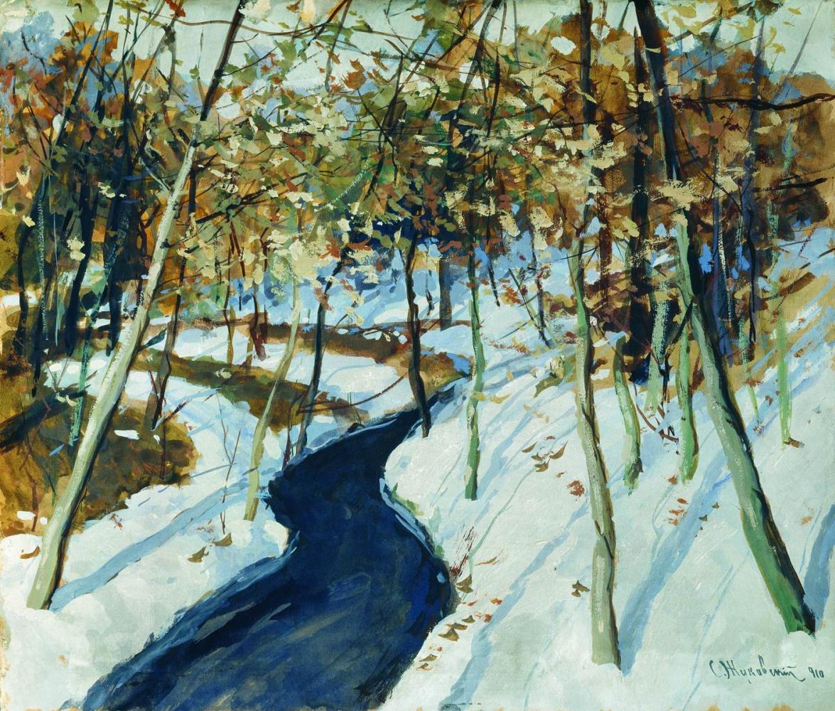 Stanislav Yulianovich Zhukovsky. Winter landscape