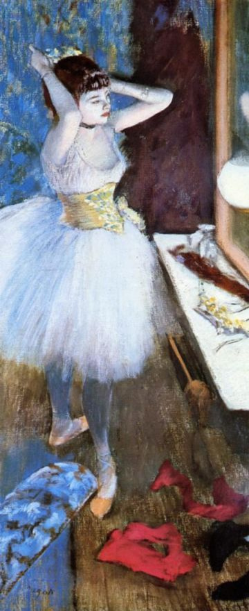 Edgar Degas. Dancer in her dressing-room
