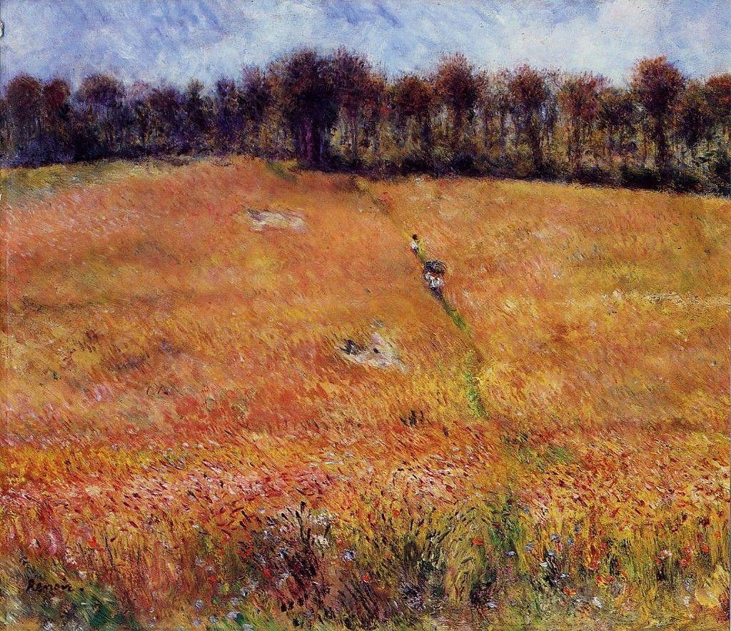 Pierre-Auguste Renoir. Way through the tall grass