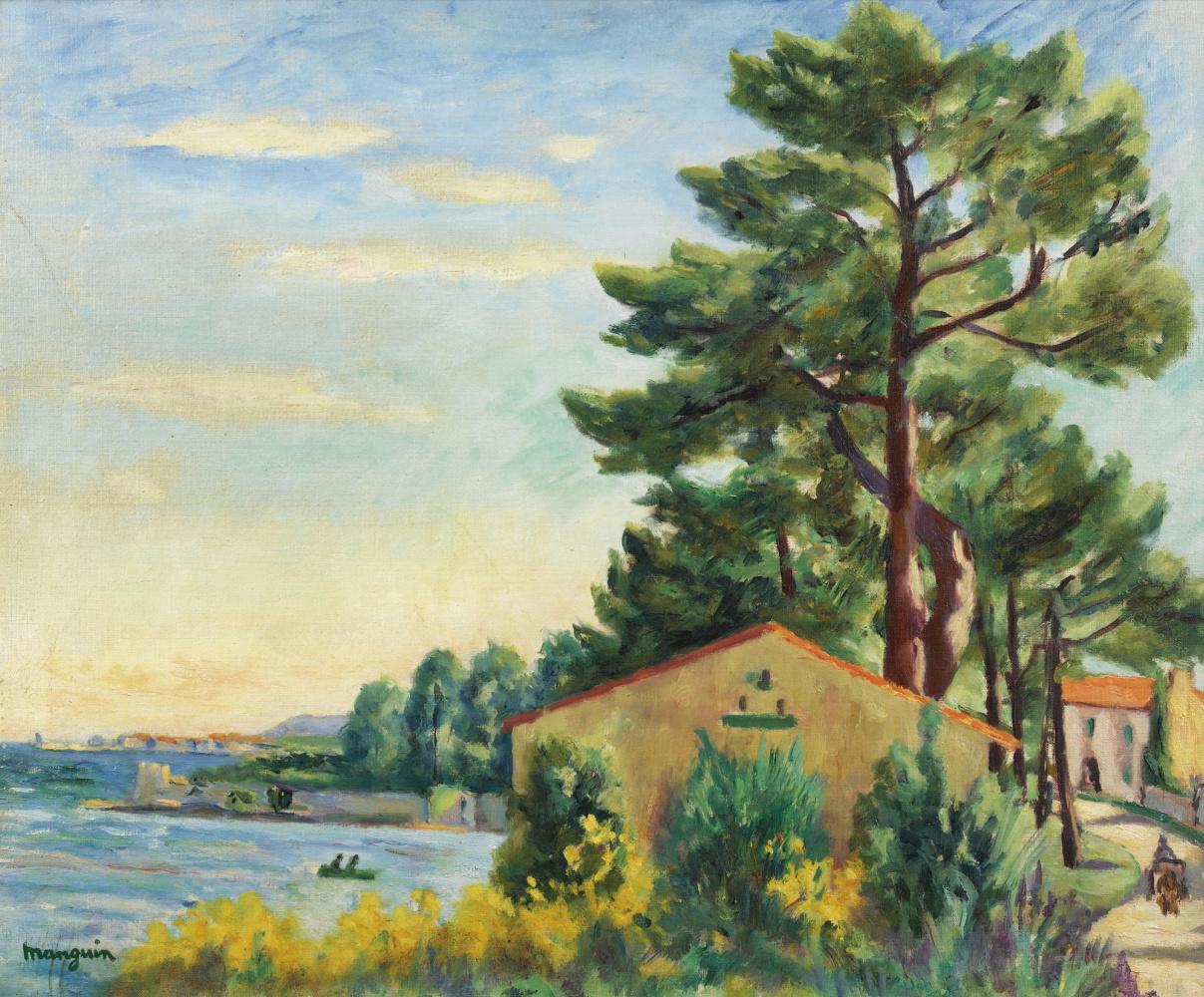 Henri Manguin. Landscape, Saint-Tropez
