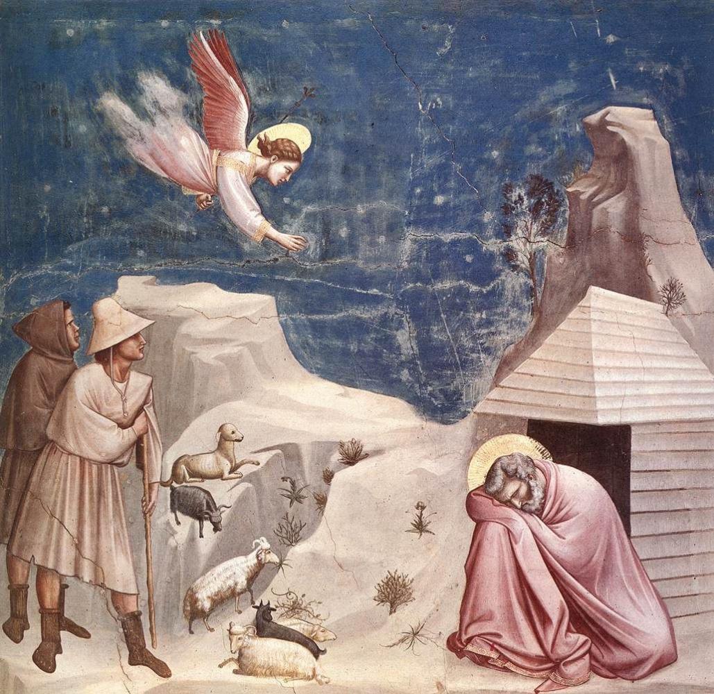 Giotto di Bondone. Son of Joachim. Scenes from the life of Joachim