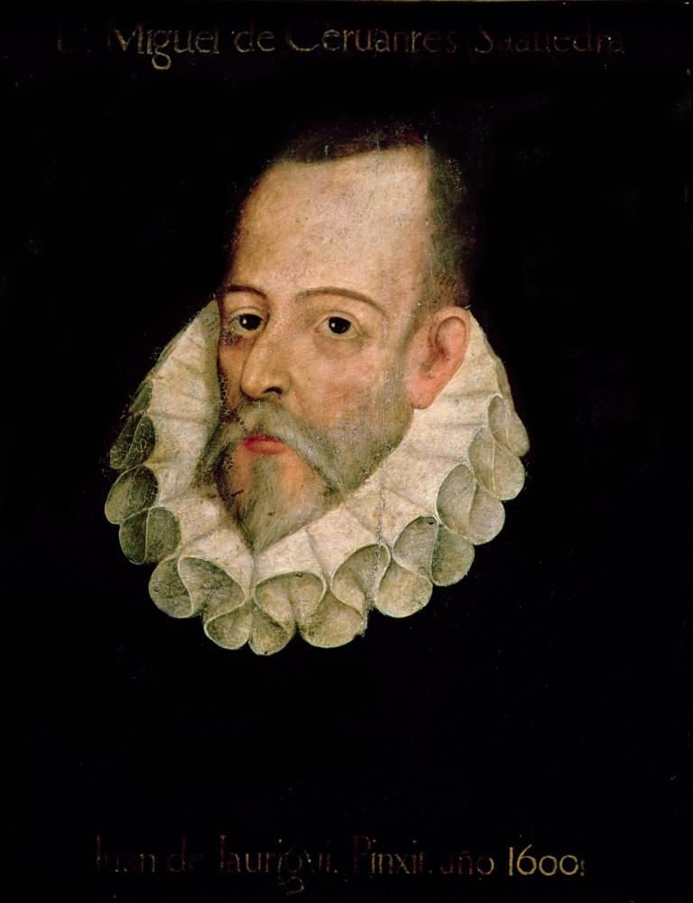 Juan De Hauregi and Aguilar. Portrait of Miguel de Cervantes
