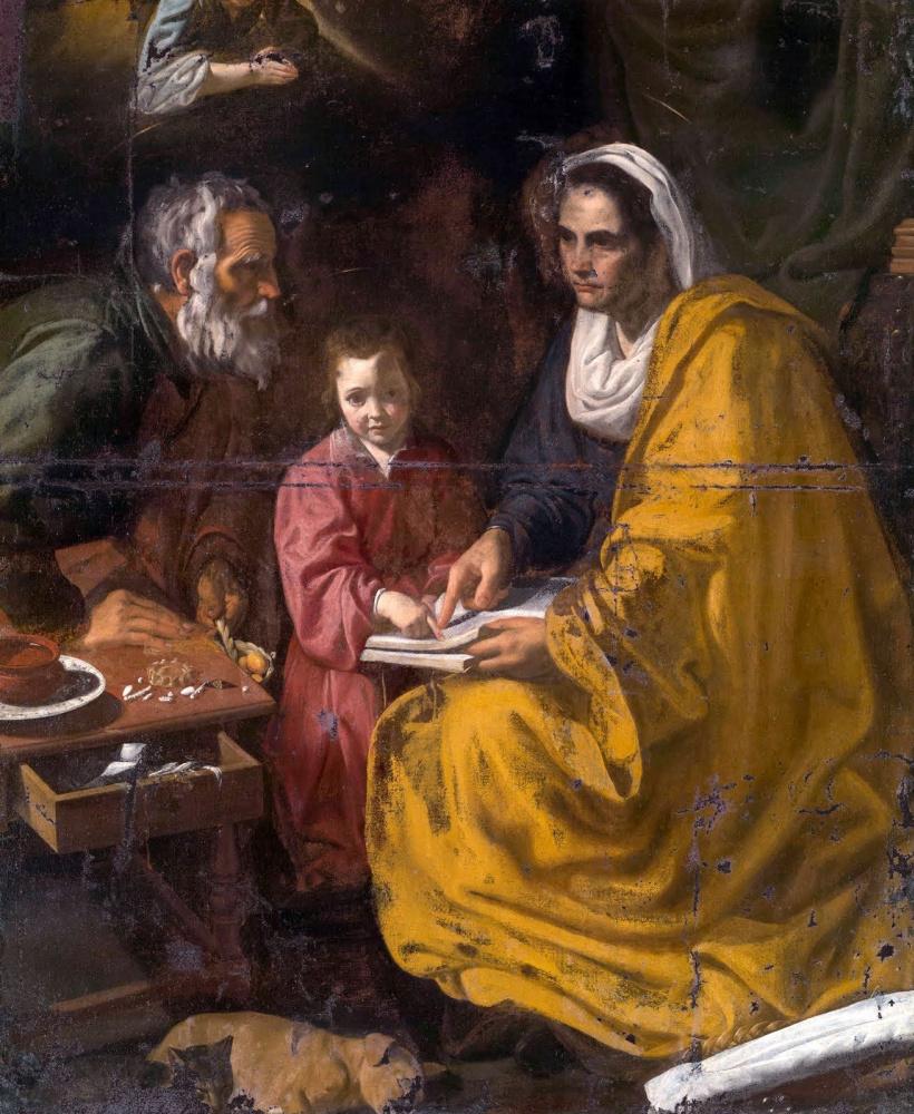 Диего Веласкес. Обучение Девы (Educación de la Virgen)