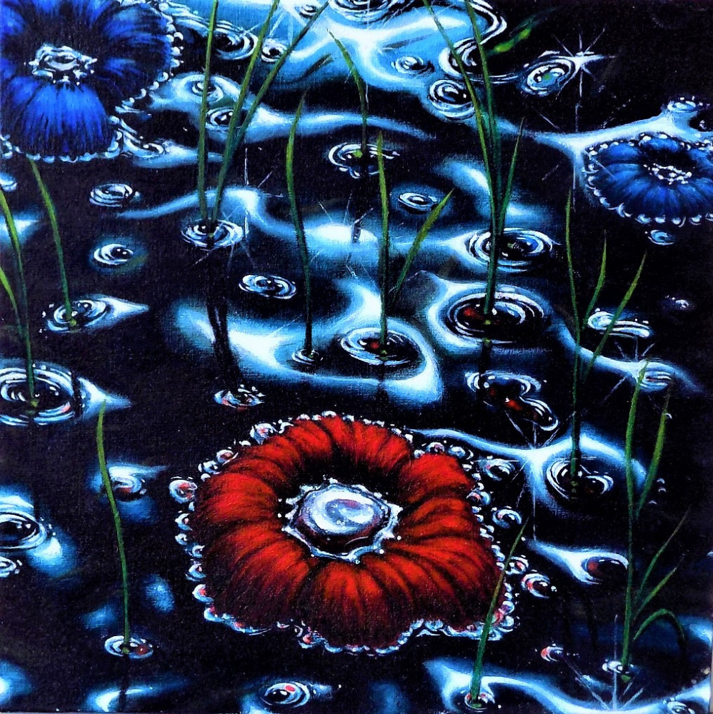 Alex Visiroff. Flowers on the water
