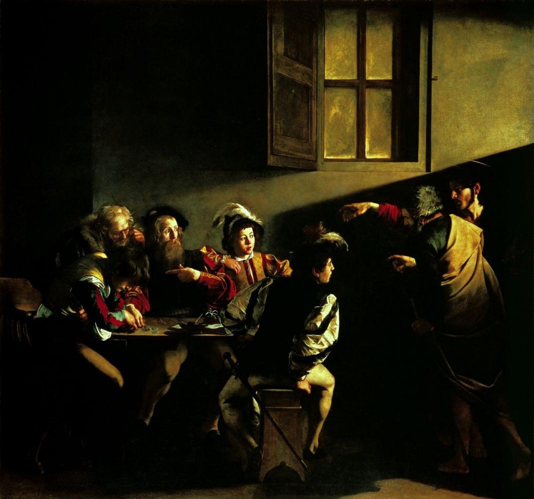 Микеланджело Меризи де Караваджо. Призвание апостола Матфея