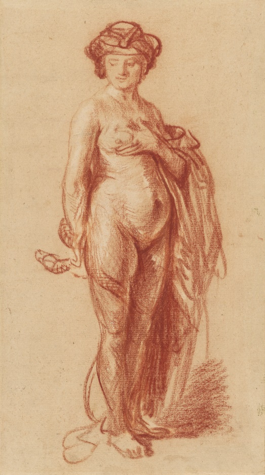 Rembrandt Harmenszoon van Rijn. Nude with a snake