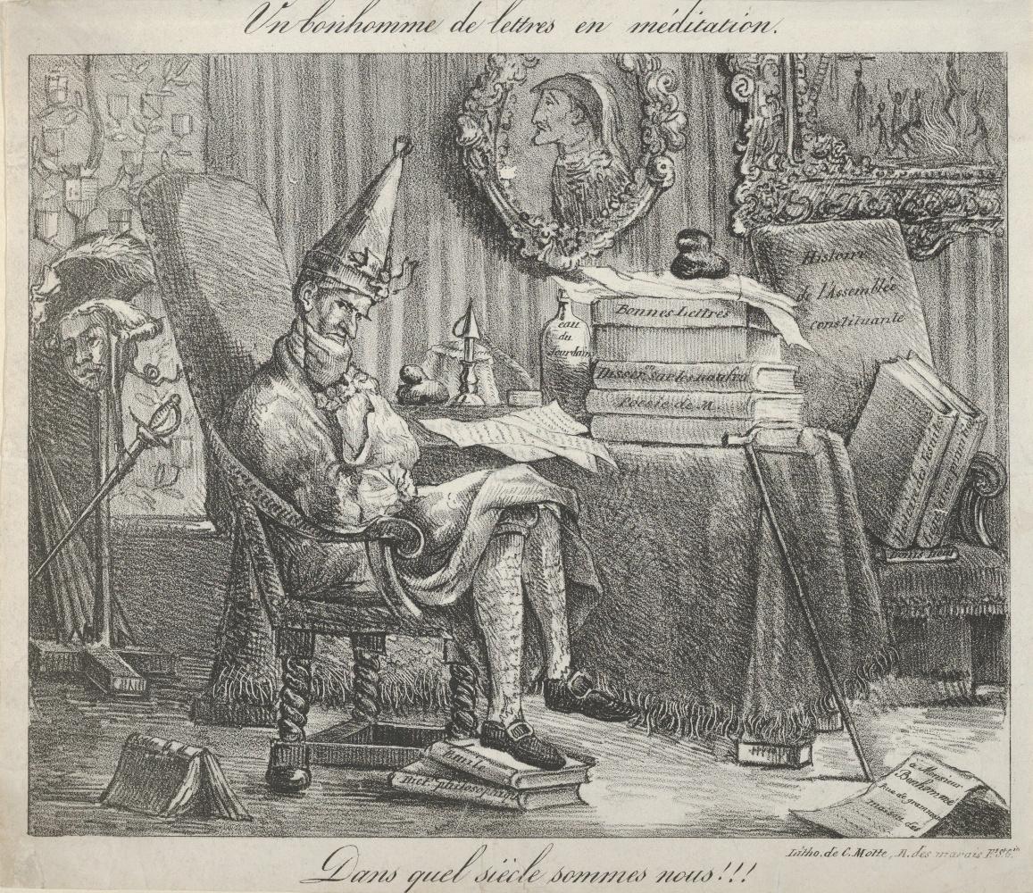 Eugene Delacroix. Thinking writer