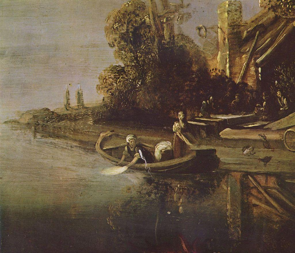 Питер Питерс Ластман. Ангел и Товия с рыбой (фрагмент)