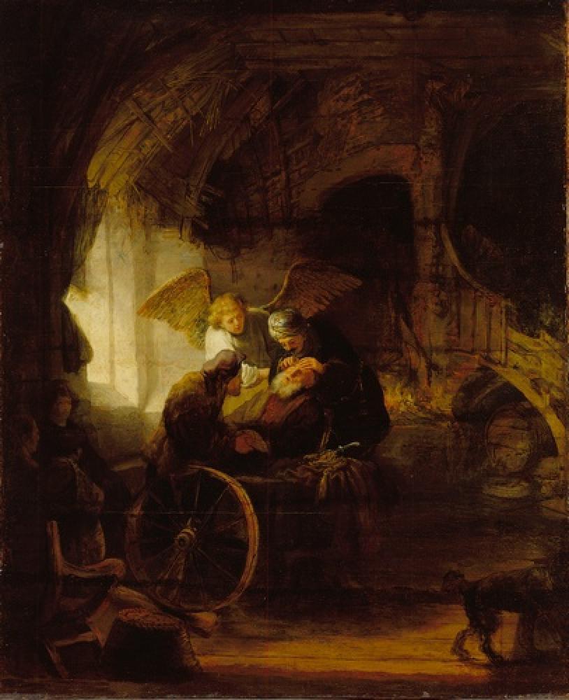 Рембрандт Харменс ван Рейн. Товия возвращает зрение своему отцу