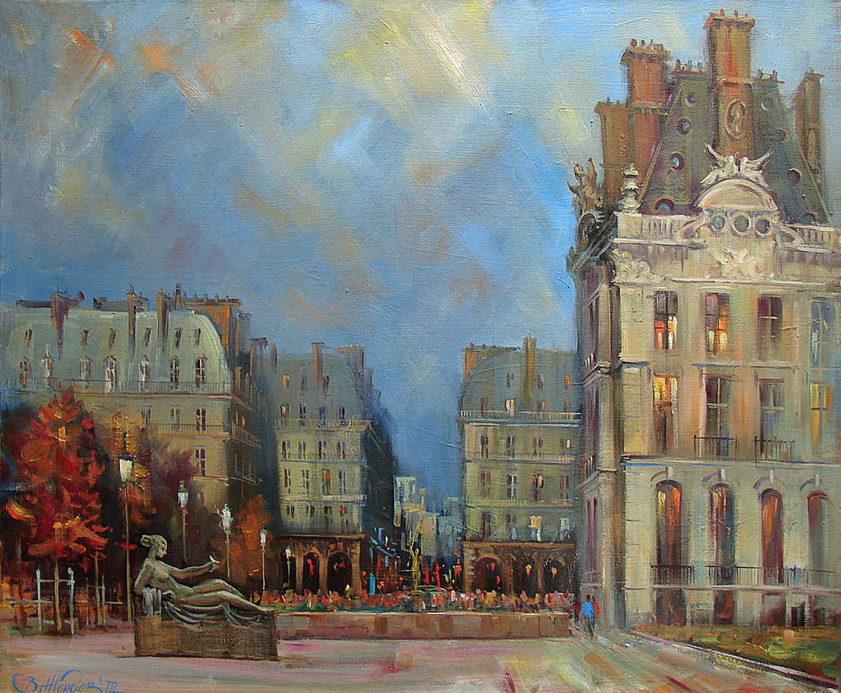 Виталий Викторович Жердев. Paris. Le jardin des Tuileries. By Vitaliy Zherdev. Oil on canvas. 85 х 70 сm