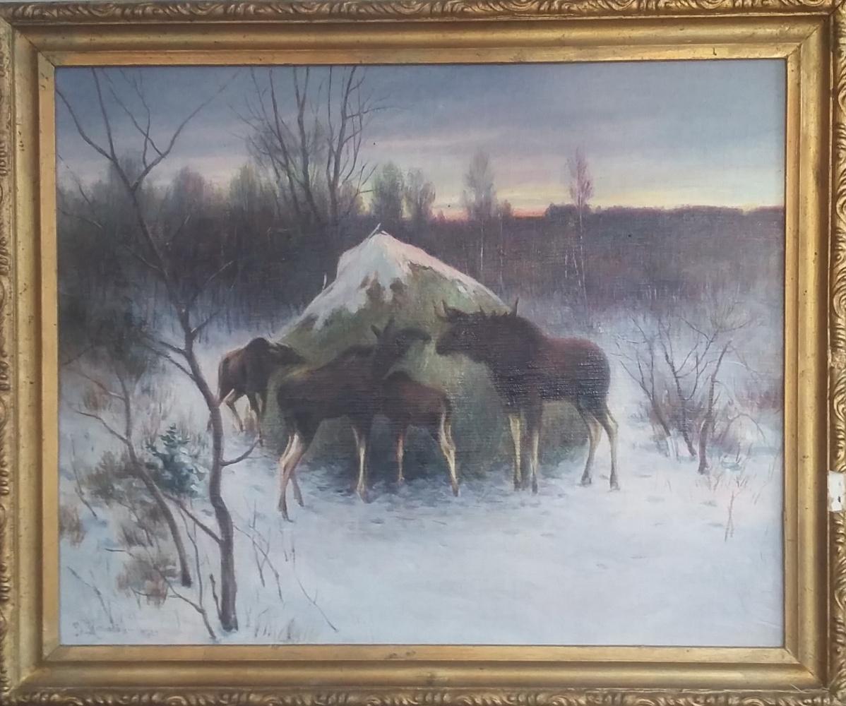 Unknown artist. Moose