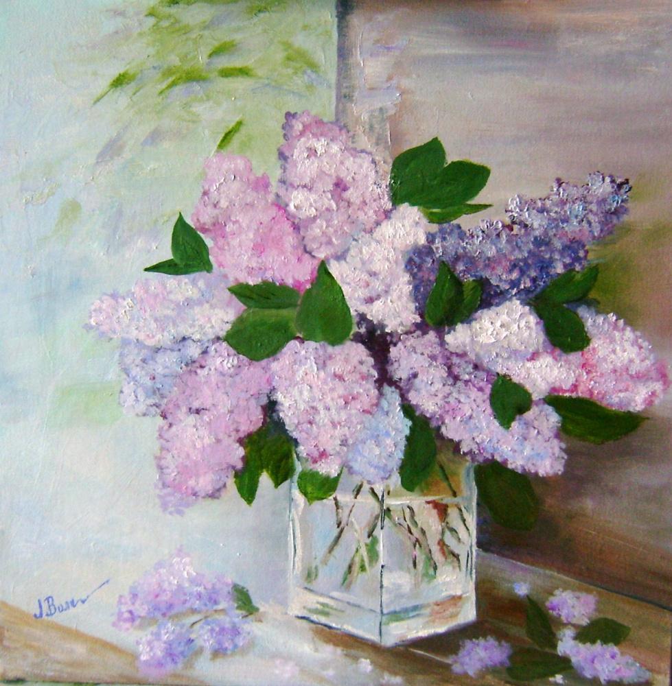 Lyubov Viktorovna Volobaeva. A bouquet of lilac