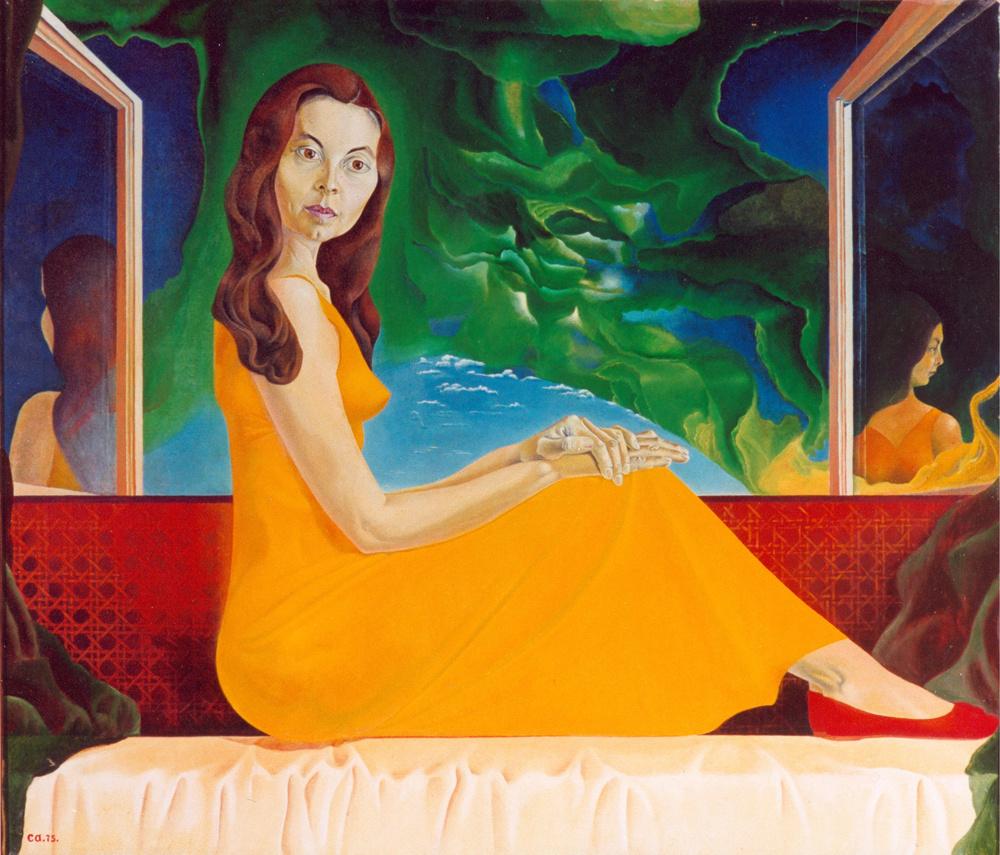 George Timofeevich Salikov. Zoya Zoya (portrait of the artist's wife)