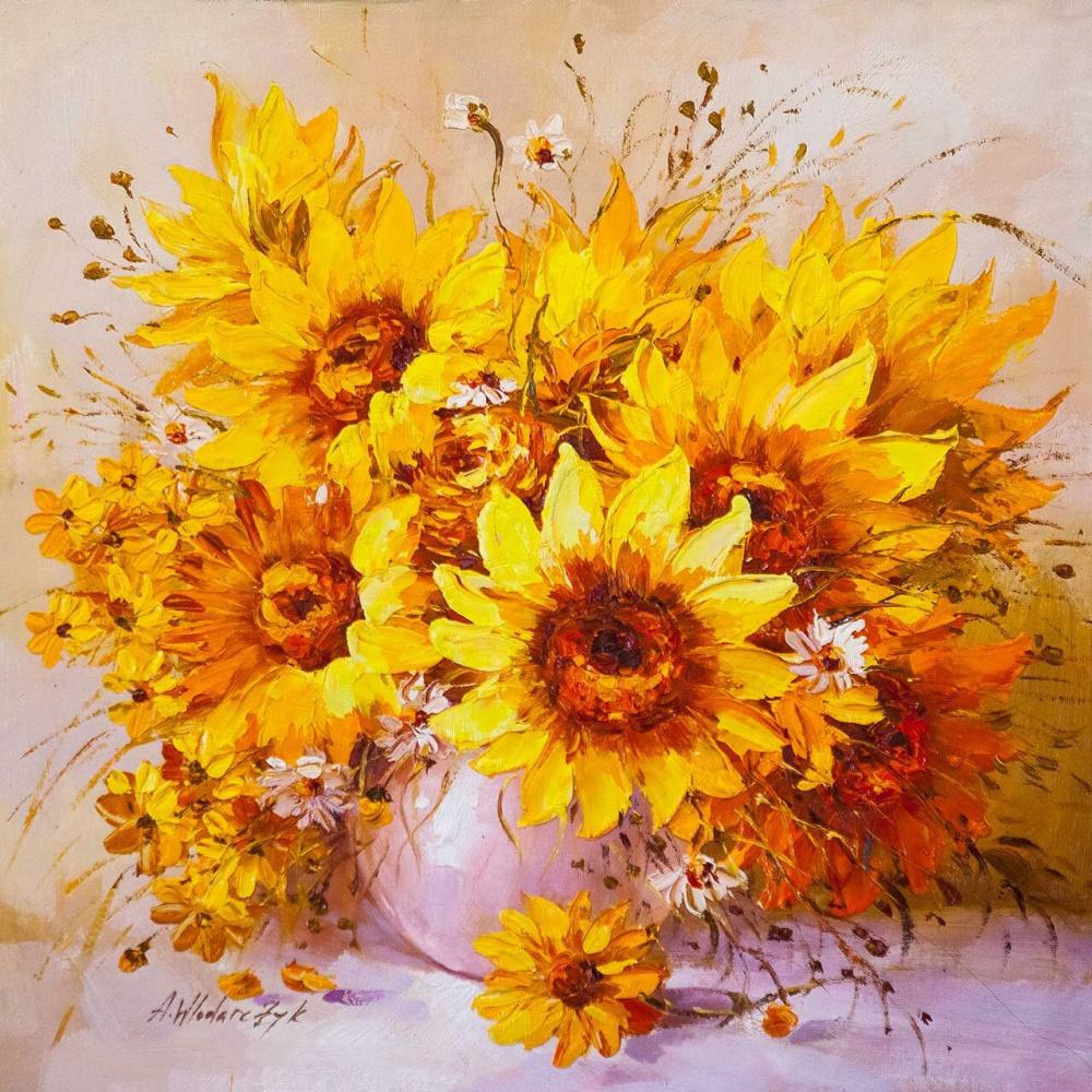 Andrzej Vlodarczyk. Bouquet of sunflowers