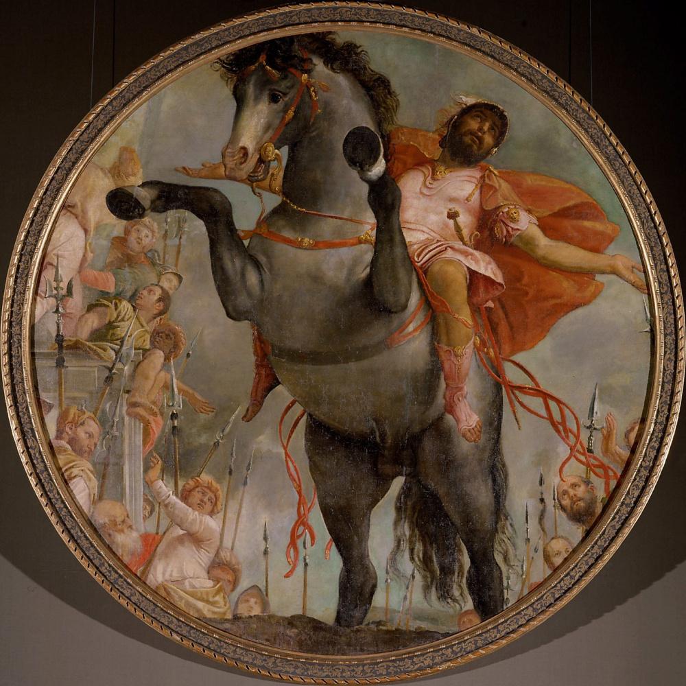 Paolo Veronese. Sacrificial death of Mark Curtius