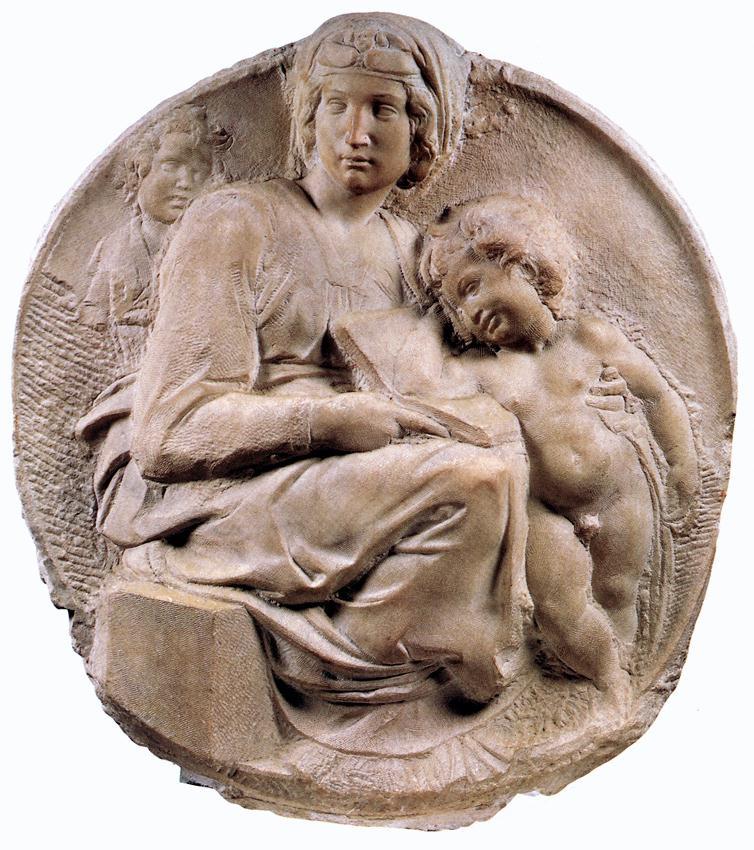 Микеланджело Буонарроти. Мадонна Тондо Питти.