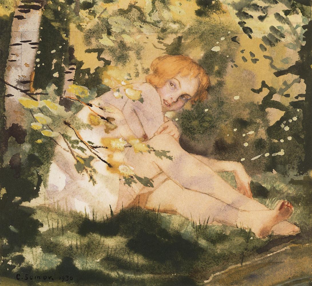 Константин Андреевич Сомов. Девушка на солнце