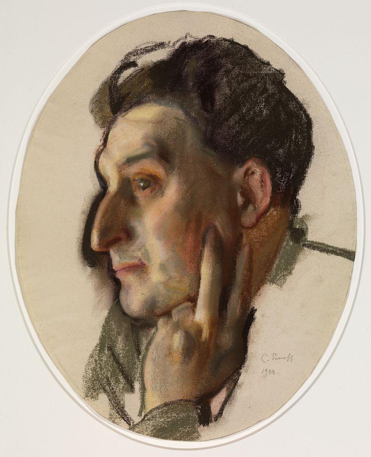 Константин Андреевич Сомов. Портрет М.Г. Лукьянова в профиль