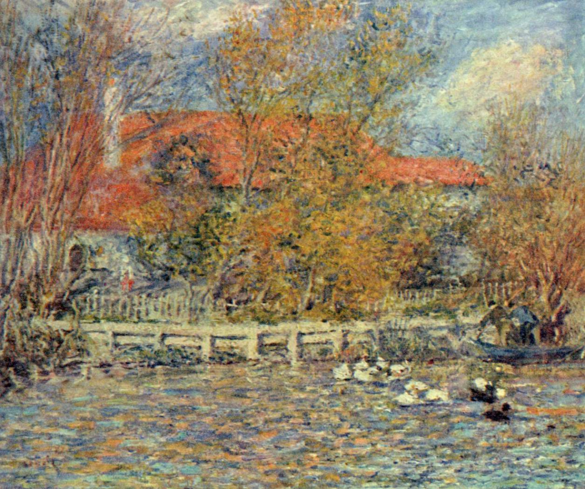 Pierre-Auguste Renoir. The duck pond
