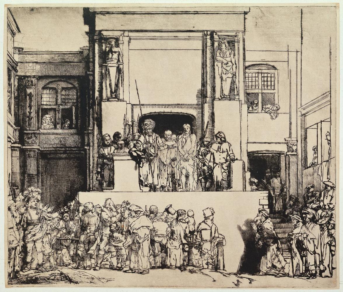 Рембрандт Ван Рейн. Христос перед народом