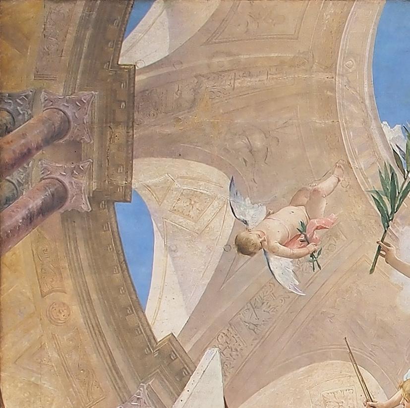 Михай Либ Мункачи. Апофеоз Ренессанса. Роспись потолка Венского музея истории искусств. Фрагмент VI