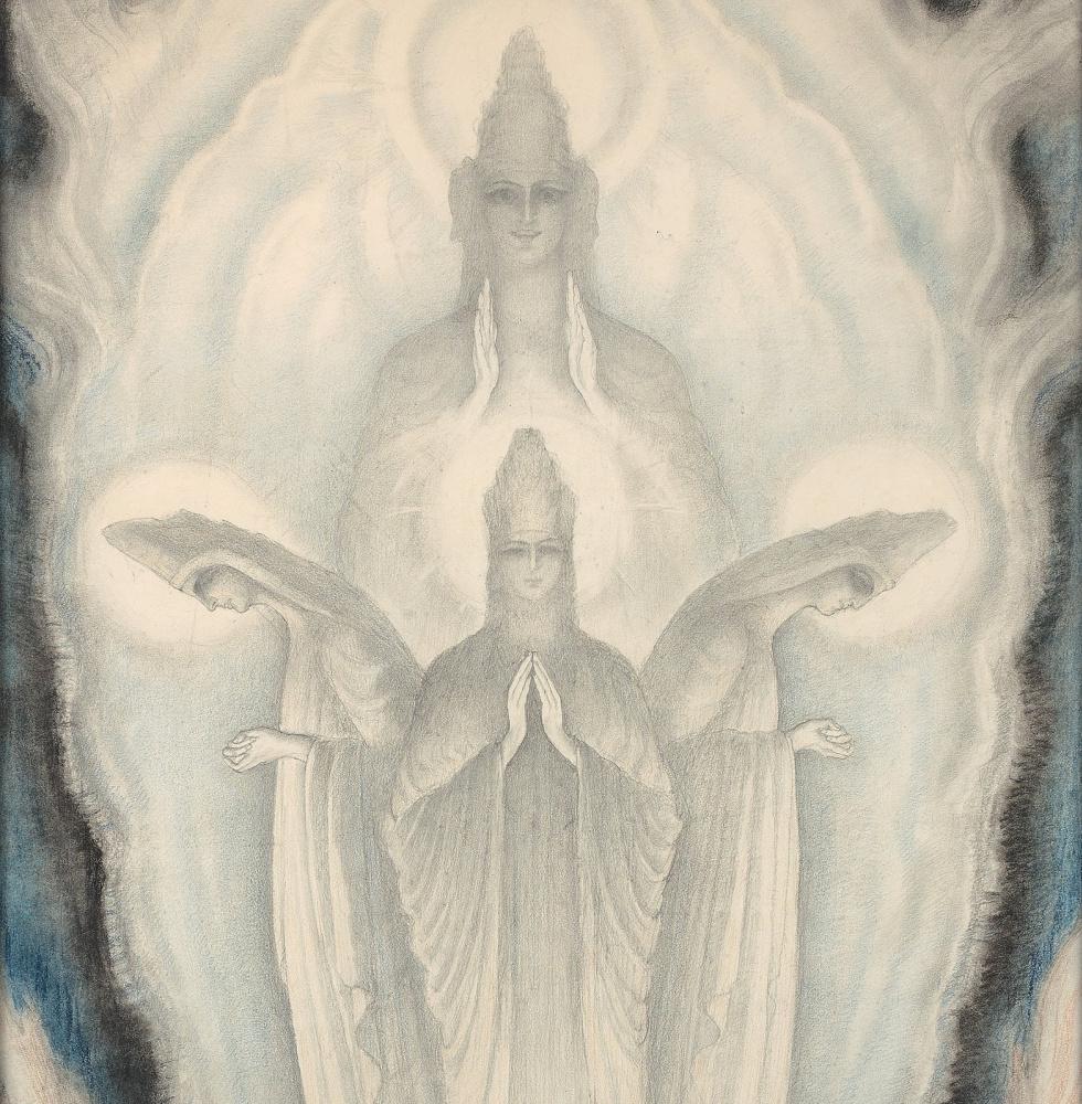 Жан Дельвиль. Кумары (Санака, Санатана, Санандана и Санат-кумара). Этюд, фрагмент