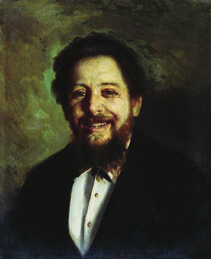 Nikolai Vasilyevich Nevrev. Portrait of a laughing man.