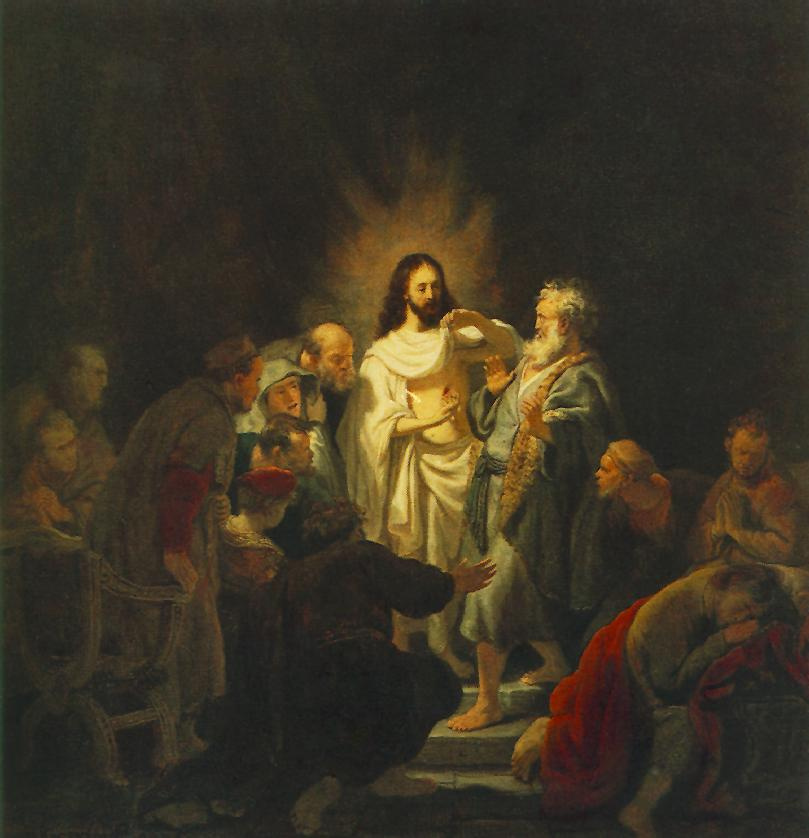 Рембрандт Харменс ван Рейн. Неверие апостола Фомы