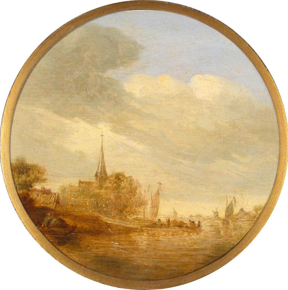 Jan van Goyen. The river Church