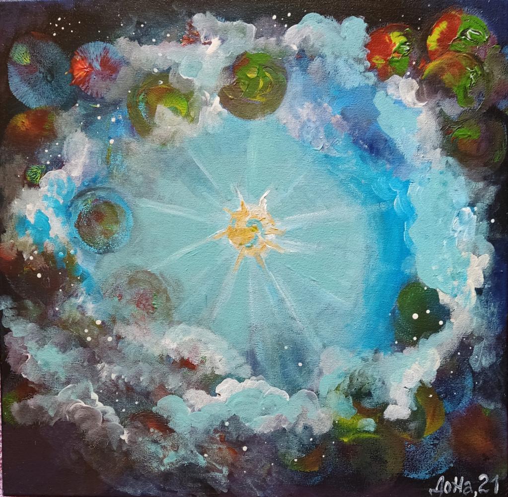 Natalya Leisure. Космос,рождение звезды.