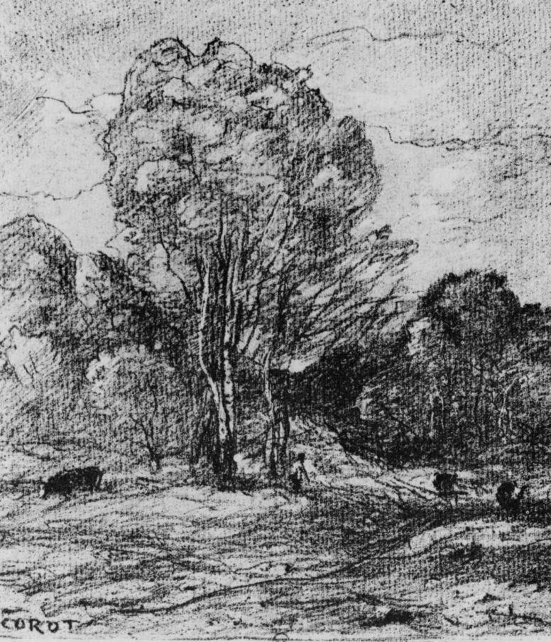 Camille Corot. Pasture