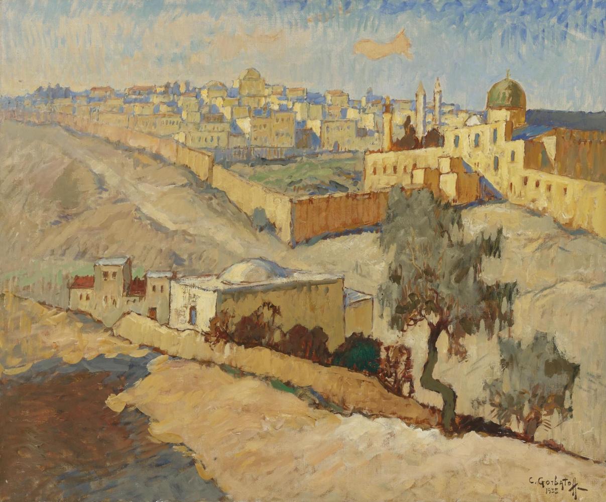 Konstantin Ivanovich Gorbatov. Jerusalem. 1935