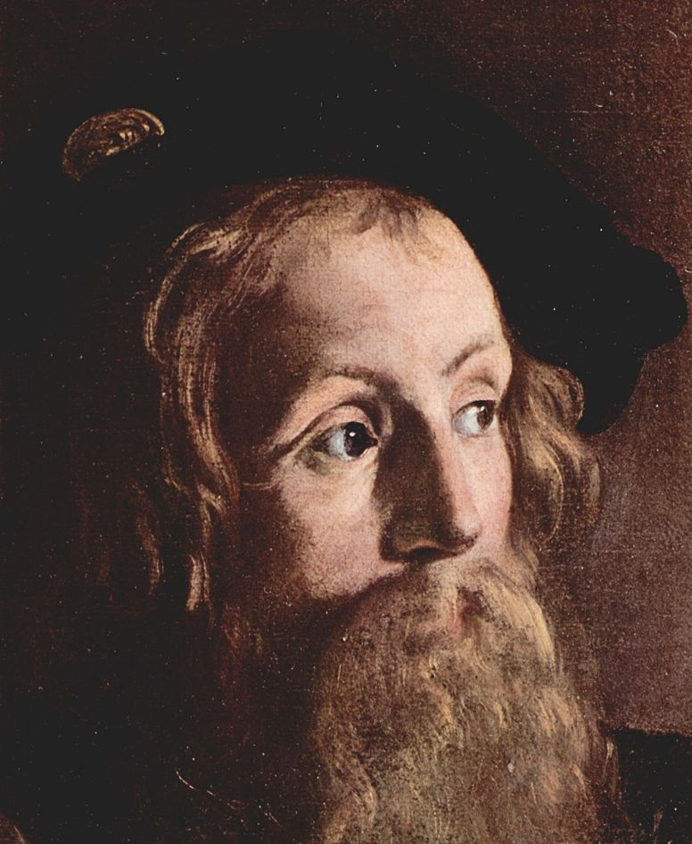 Michelangelo Merisi de Caravaggio. The calling of St. Matthew. Fragment