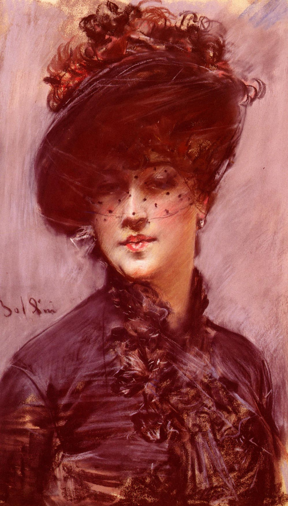 Джованни Больдини. Женщина в черной шляпе