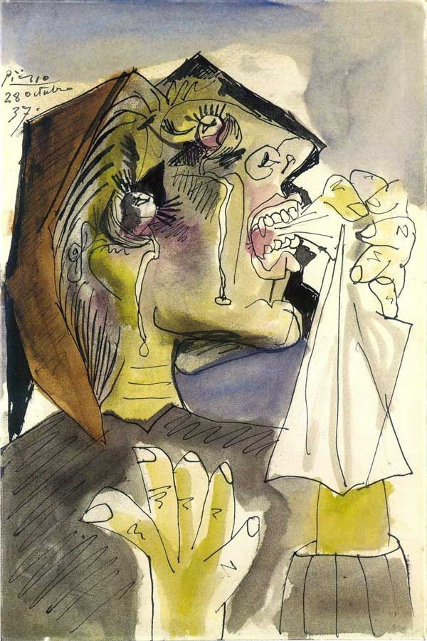 Pablo Picasso. Weeping woman with handkerchief. Dora Maar