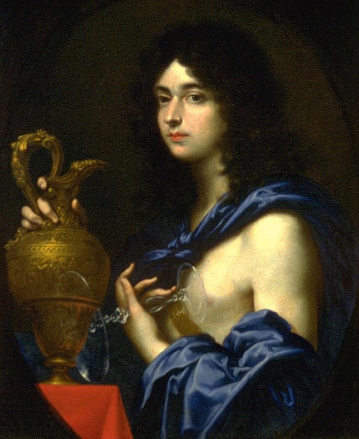 Baldassare Francescini. Portrait of the Chevalier de Lorena in the image of Ganymede