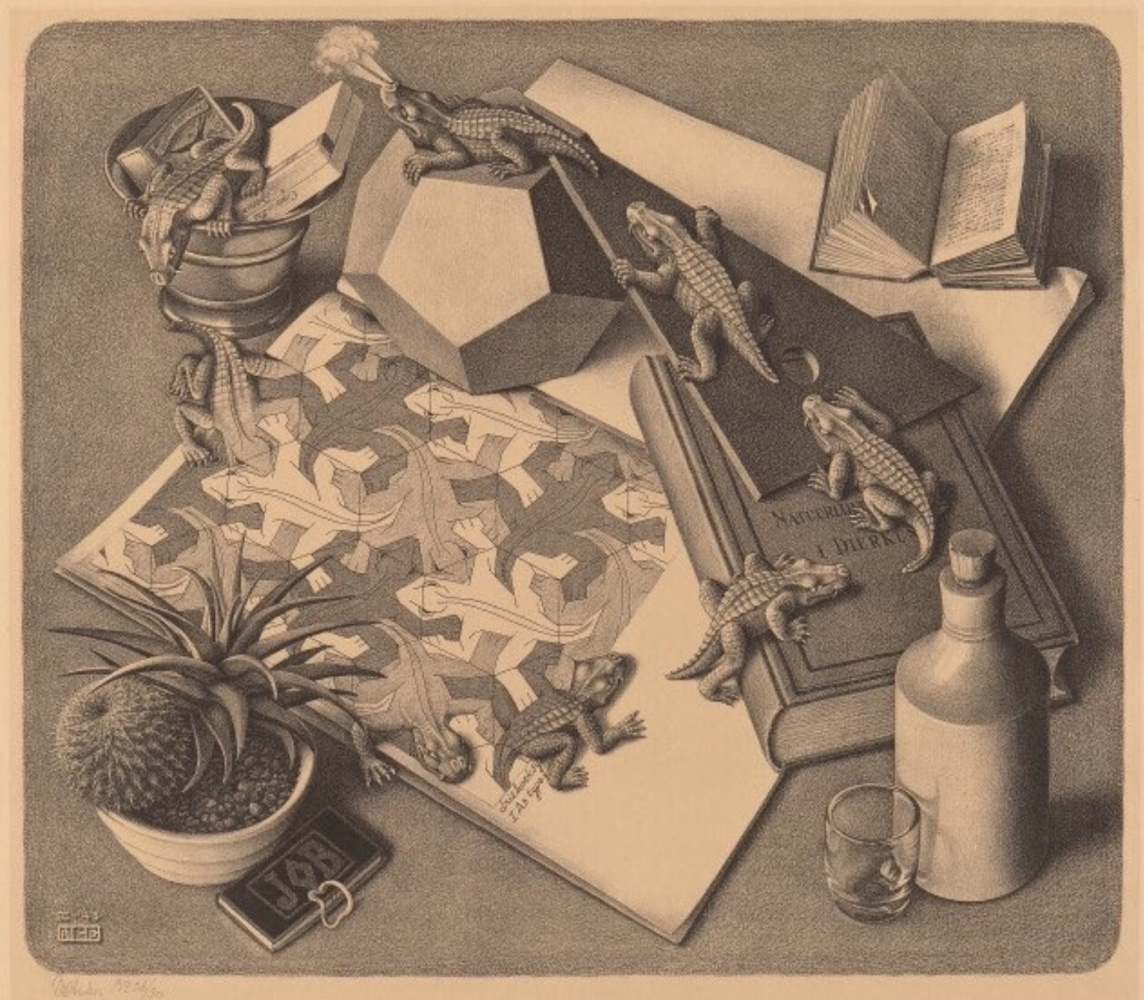 Maurits Cornelis Escher. Reptiles