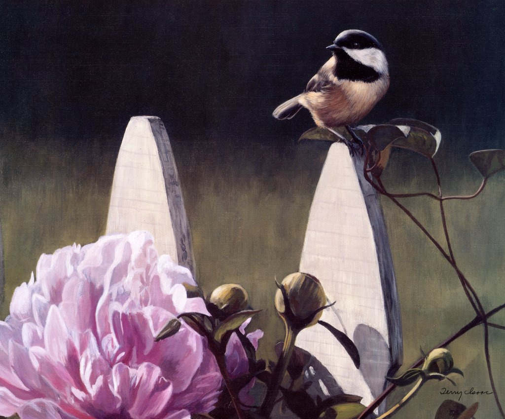 Terry Isaac. Chick and peony