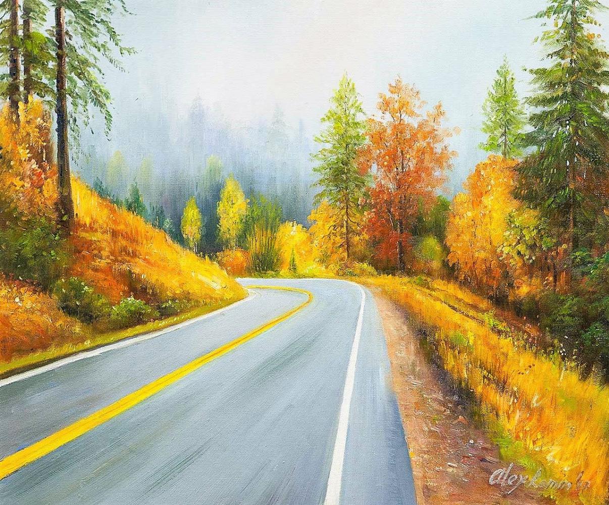 Alexander Romm. Road in autumn