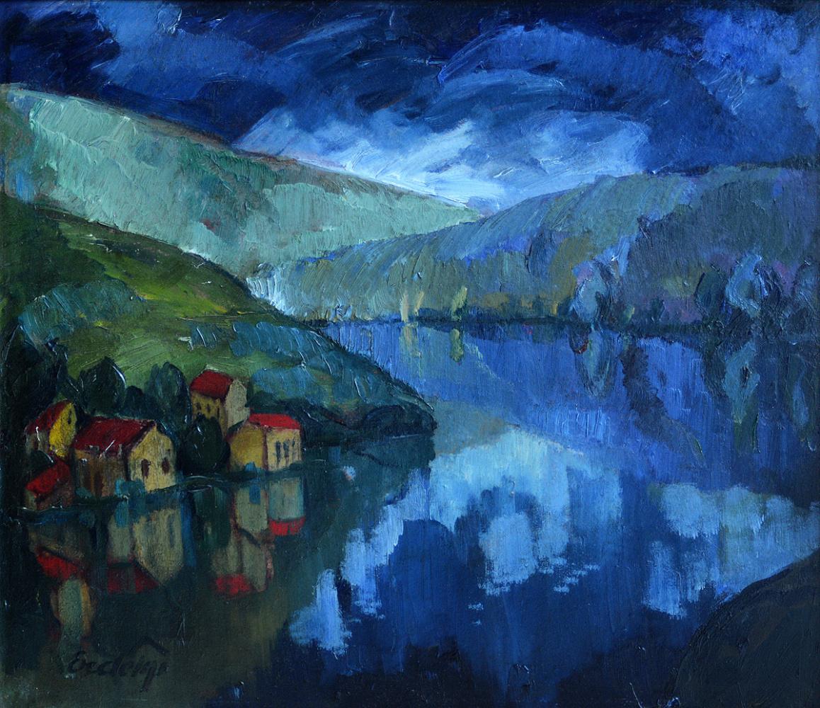 Adalbert Mikhailovich Erdeli. The village of Le Pen on the river Creuse