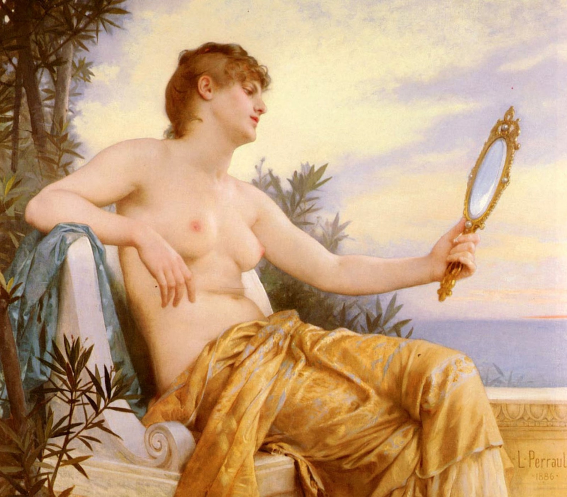 Leon Basile Perrot France 1832-1908. Vanity. 1886