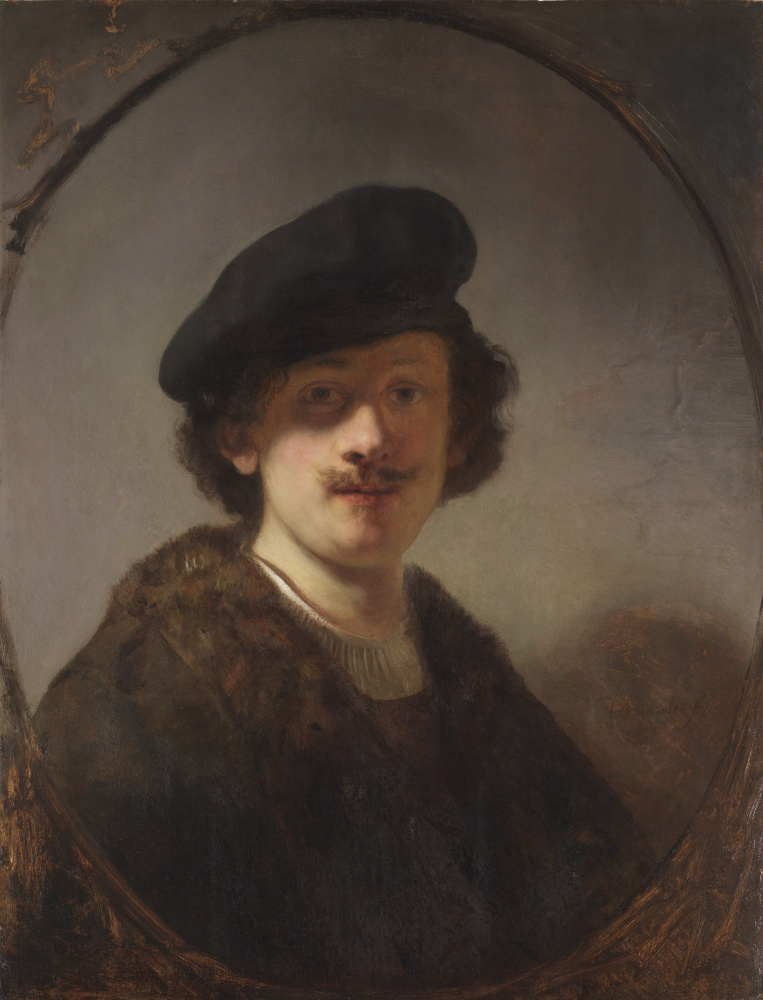 Rembrandt Harmenszoon van Rijn. Self-portrait with shaded eyes