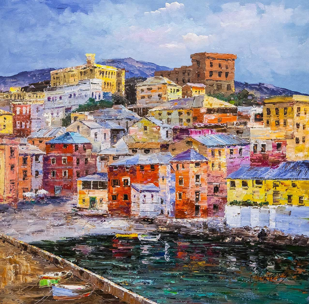 (no name). Italian holidays. View of Genoa