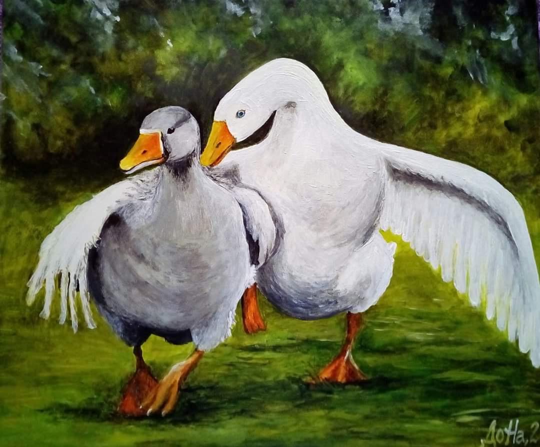 Natalya Leisure. Два веселых гуся .